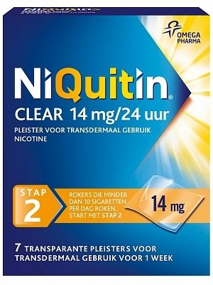 NiQuitin Clear 14 mg/24 uur stap 2