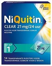 NiQuitin Clear 21 mg/24 uur stap 1 14 stuks