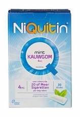 NiQuitin Kauwgom 4 Mg 30stuks