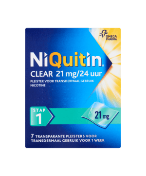 NiQuitin Clear 21 mg/24 Uur Nicotine Stap 1 7 Pleisters bij Jumbo
